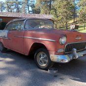 1955 Chevroletbel Air 150 210 Gypsy Red Shoreline Beige