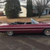 1964 Chevrolet Impala Convertible Chevy Imp Old School Low Rider Rag
