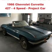 1963 corvette coupe project with 1967 big block frame for sale