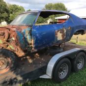 1969 chevelle ss 396 l78 l89 Chevy project barn find for