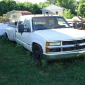 1989 CHEVY C3500 CREW CAB DUALLY BLUE 454 V8 for sale in Kewanee