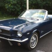 Clic 1966 Ford Mustang Convertible Nightmist Blue 289 V8 Stick Shift