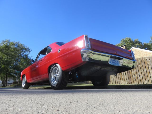 "Chevy Bolt Seat Comfort >> "" REGAL RED 1966 CHEVY II NOVA HARD TOP HEIDTS FRONT CLIP GM 350 CRATE MOTOR"""