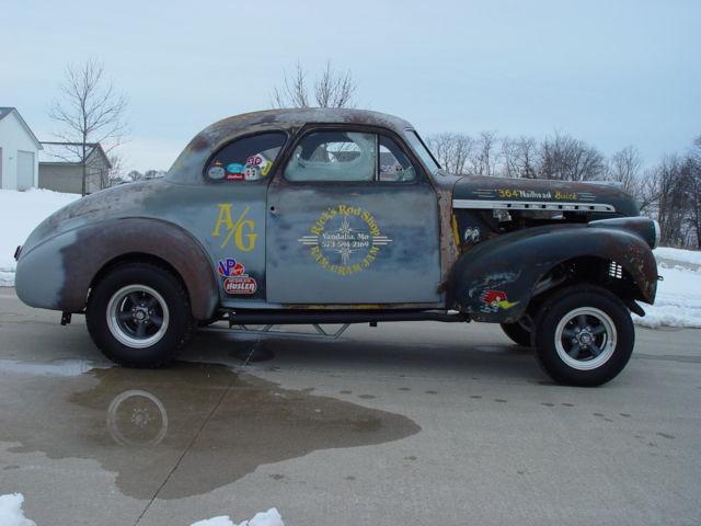 $1 N/R - 1940 CHEVY GASSER DRAG CAR - NAILHEAD - DRIVER