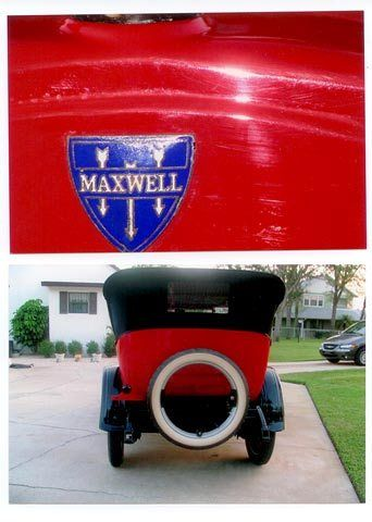 White Wall Tires For Sale >> 1924 Maxwell 25-C Touring Car - Red Convertible for sale ...