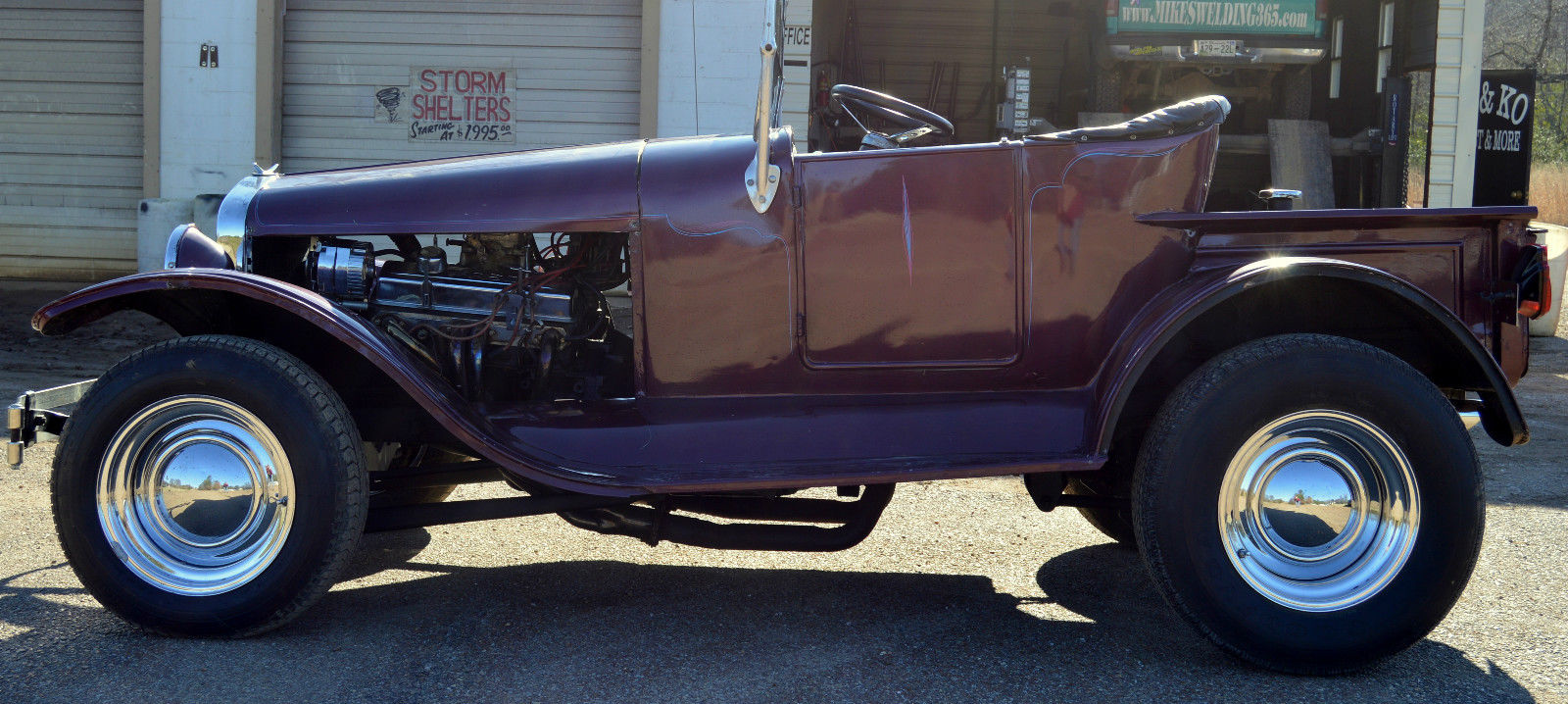T Bucket Front Fenders : Ford t bucket truck rat rod custom antique steel