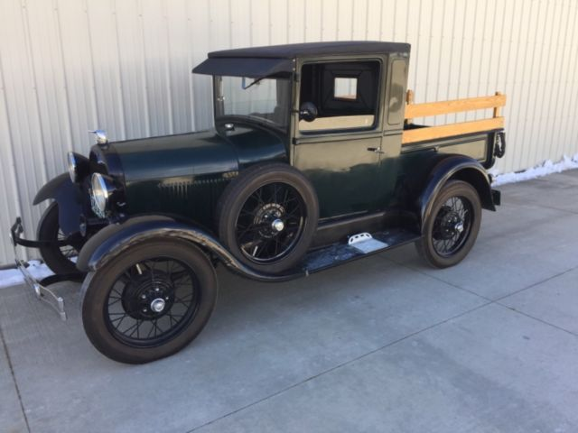 1928 ford model a closed cab pickup truck classic hot rod 28