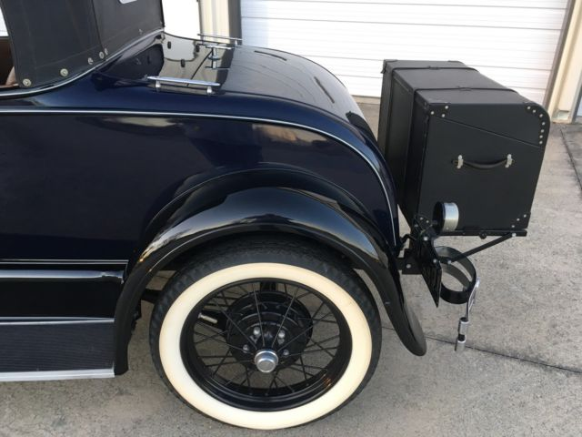 1929 ford model a roadster blue and black w saddle interior show winner. Black Bedroom Furniture Sets. Home Design Ideas