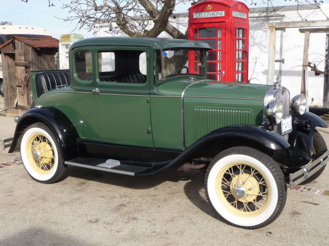 1930 Model A Ford Coupe 5 Window Standardnice Restored Car