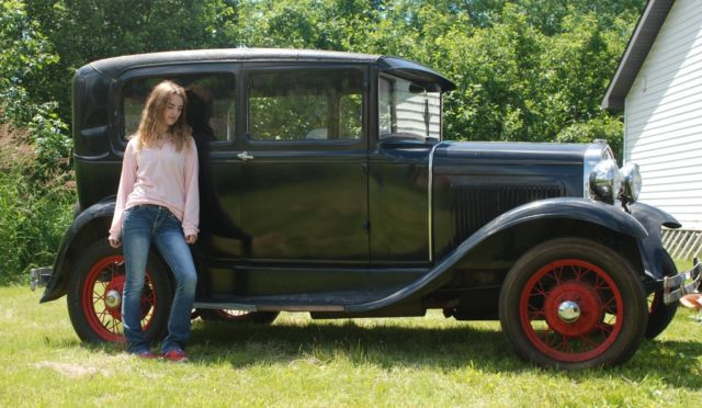 1931 Ford Model A 2 Door Tudor Car 2 Owners Barn Find
