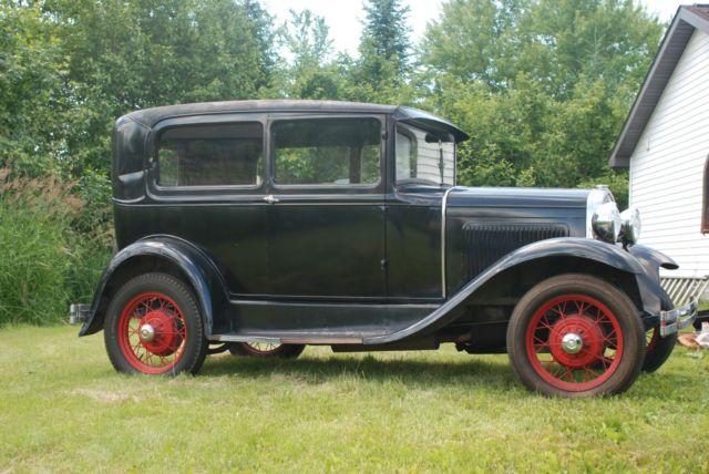 1931 ford model a 2 door tudor car 2 owners barn find for 1931 ford model a 2 door sedan