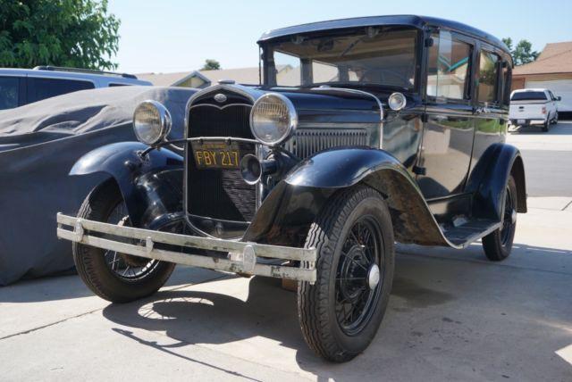1931 ford model a fordor 4 door sedan survivor for 1931 ford model a 4 door