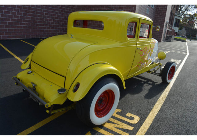 1932 chevy hot rod street rod coupe all steel flames small