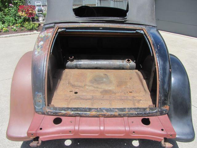 1932 Plymouth Convertible Coupe, Hot Rod, Rat Rod, Original