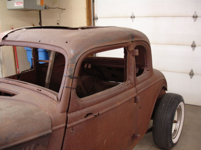 Ford Steel Henry Window Coupe Project Hot Rod Rat Rod Barn on Dodge Dakota Frame