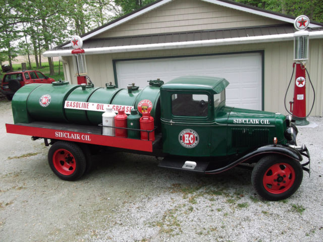 Ford Model Bb Truck Sinclair Oil Delivery Tankerpickups Body Off Nice on 1930 Ford Model Aa Truck For Sale