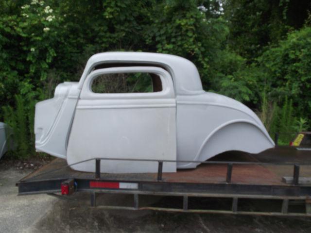 1934 Ford 3 Window Vintage Fiberglass Replica Body With 2