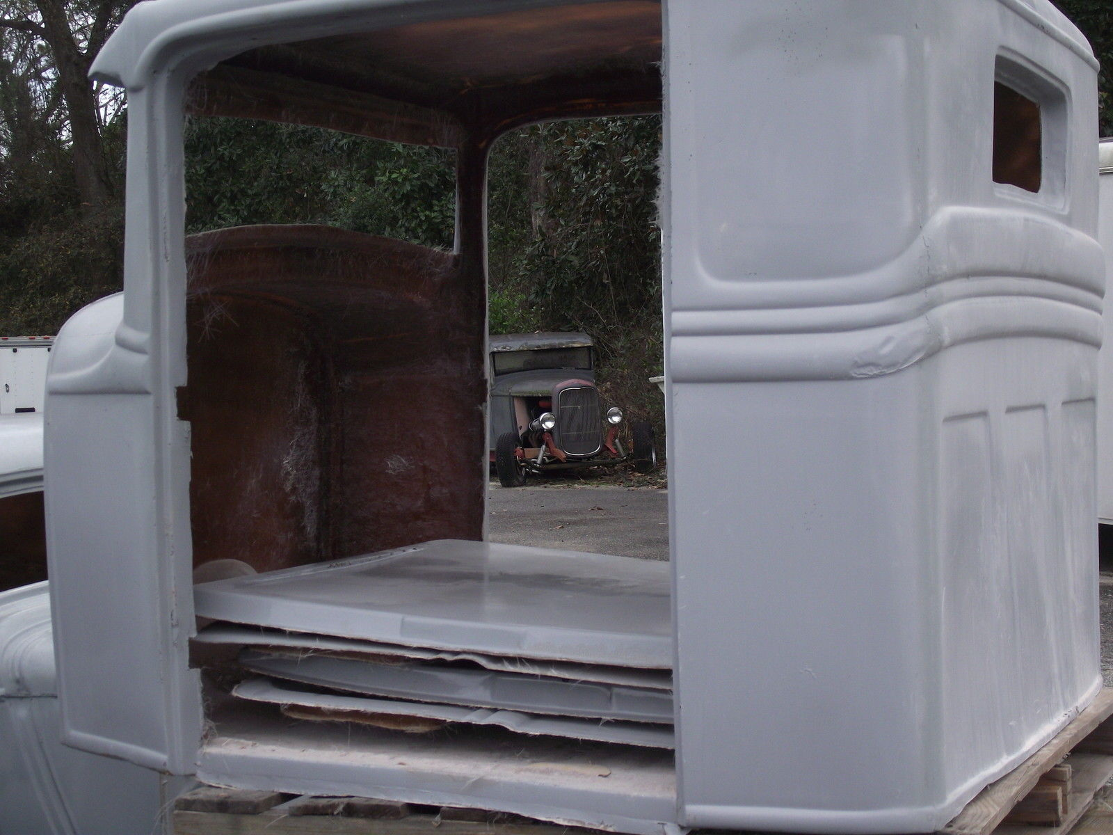 1934 ford pickup truck fiberglass replica body with extended cab and doors for sale in valdosta for Fiberglass exterior doors for sale