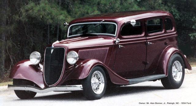 1934 Ford Street Rod Hot Rod Antique Sedan Fordor Ford