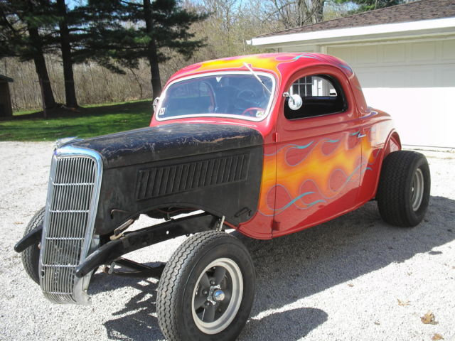 1935 ford coupe 3 window hot rod gasser project car for for 1935 3 window coupe