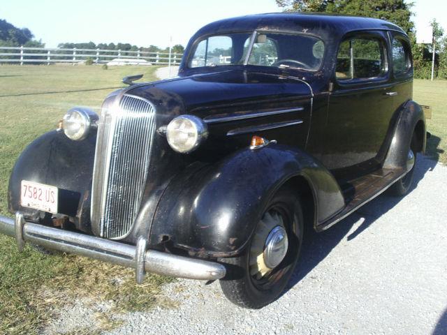 1936 Chevy 2 Door Sedan Slant Back All original running car