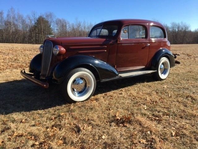 1936 chevy deluxe 2 door oz rodz stealth resto mod with for 1936 chevy sedan 4 door