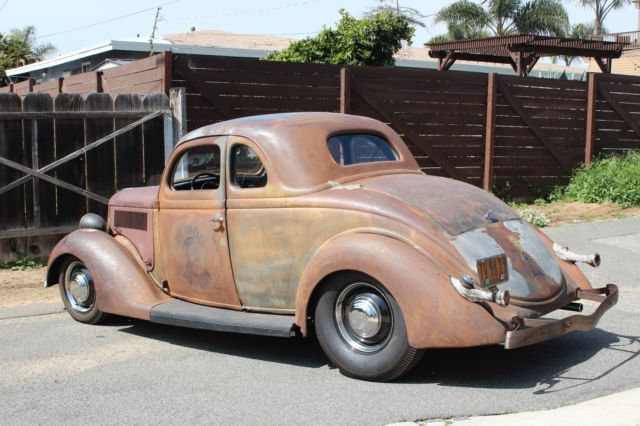 1936 ford 5 window coupe hot rod survivor kustom rat rod for 1936 5 window coupe