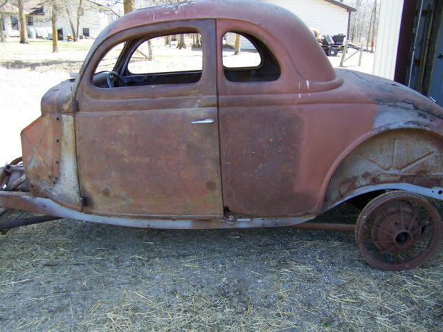 1936 ford coupe  nice project or rat rod body  40 ford