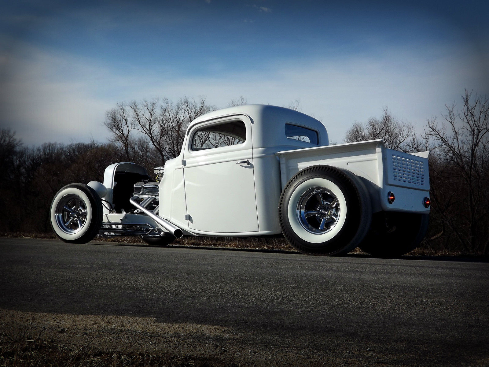 1936 ford pickup no reserve hot rod custom traditional raked chopped street rat