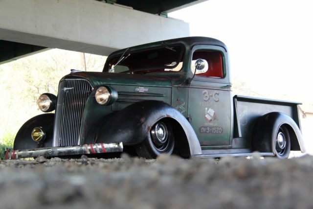 Diesel Pickup Trucks >> 1937 Chevrolet Pickup..Rat Rod..Custom..Air Ride..Auto Trans..V6..NO RESERVE!!! for sale in ...
