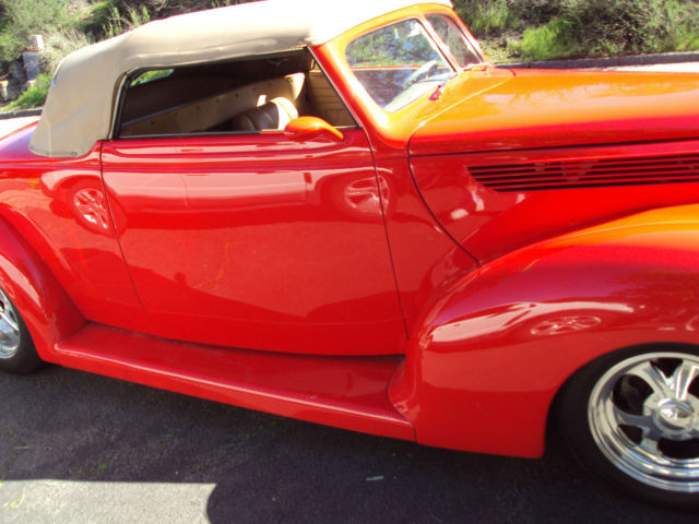 1938 Ford Custom Roadster Corvette Red Big Block Chevy ...
