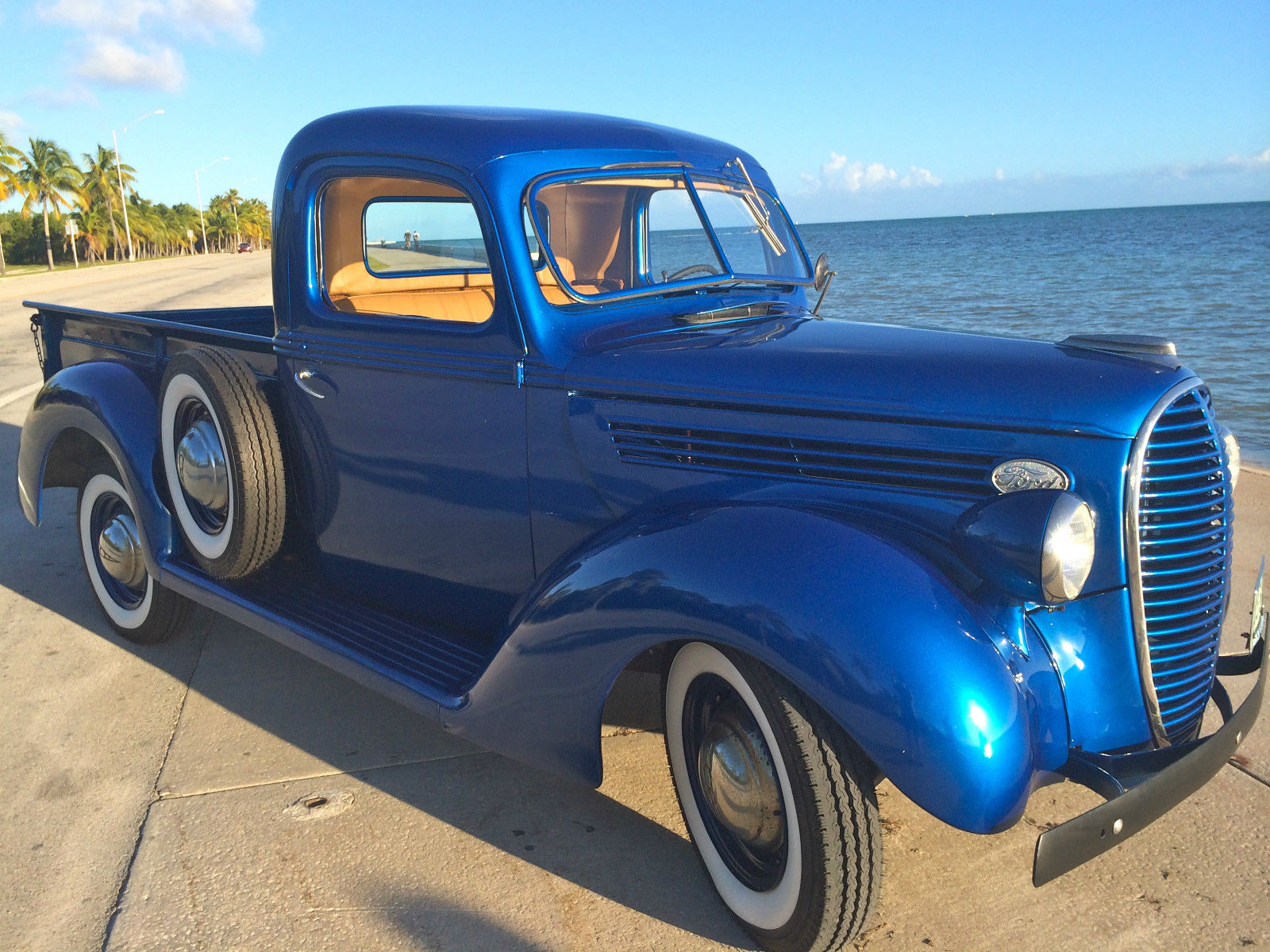 1938 ford pickup model 85 ford electric blue original engine with low mileage for sale in key. Black Bedroom Furniture Sets. Home Design Ideas