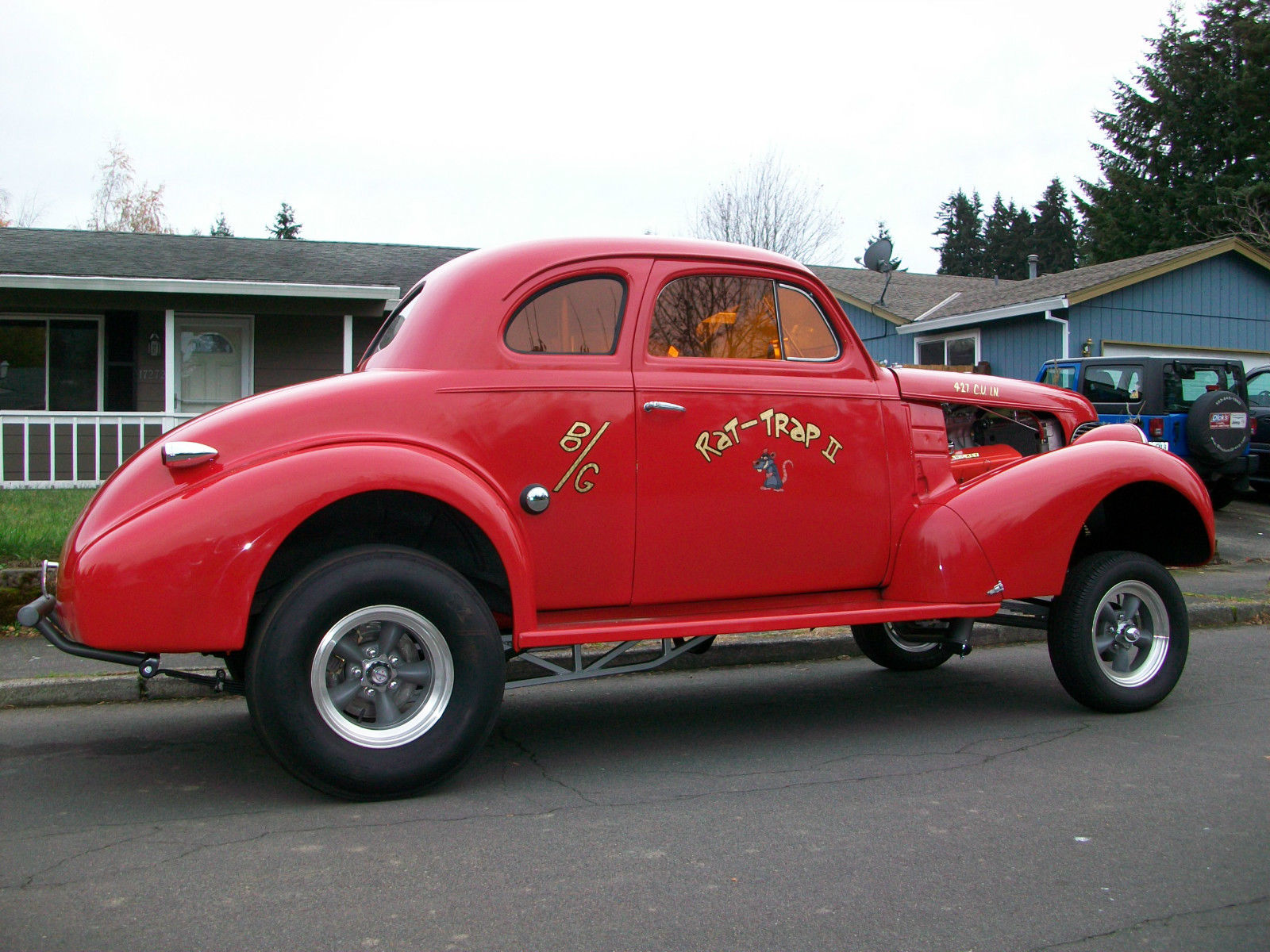 1939 Chevrolet Coupe Gasser Hotrod Streetrod Project For