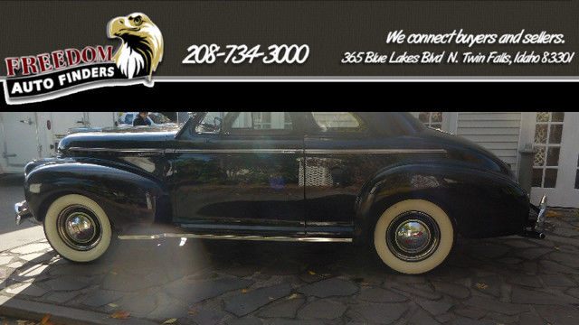 1941 Chevy Master Deluxe Business Coupe Black Tan Cloth Interior