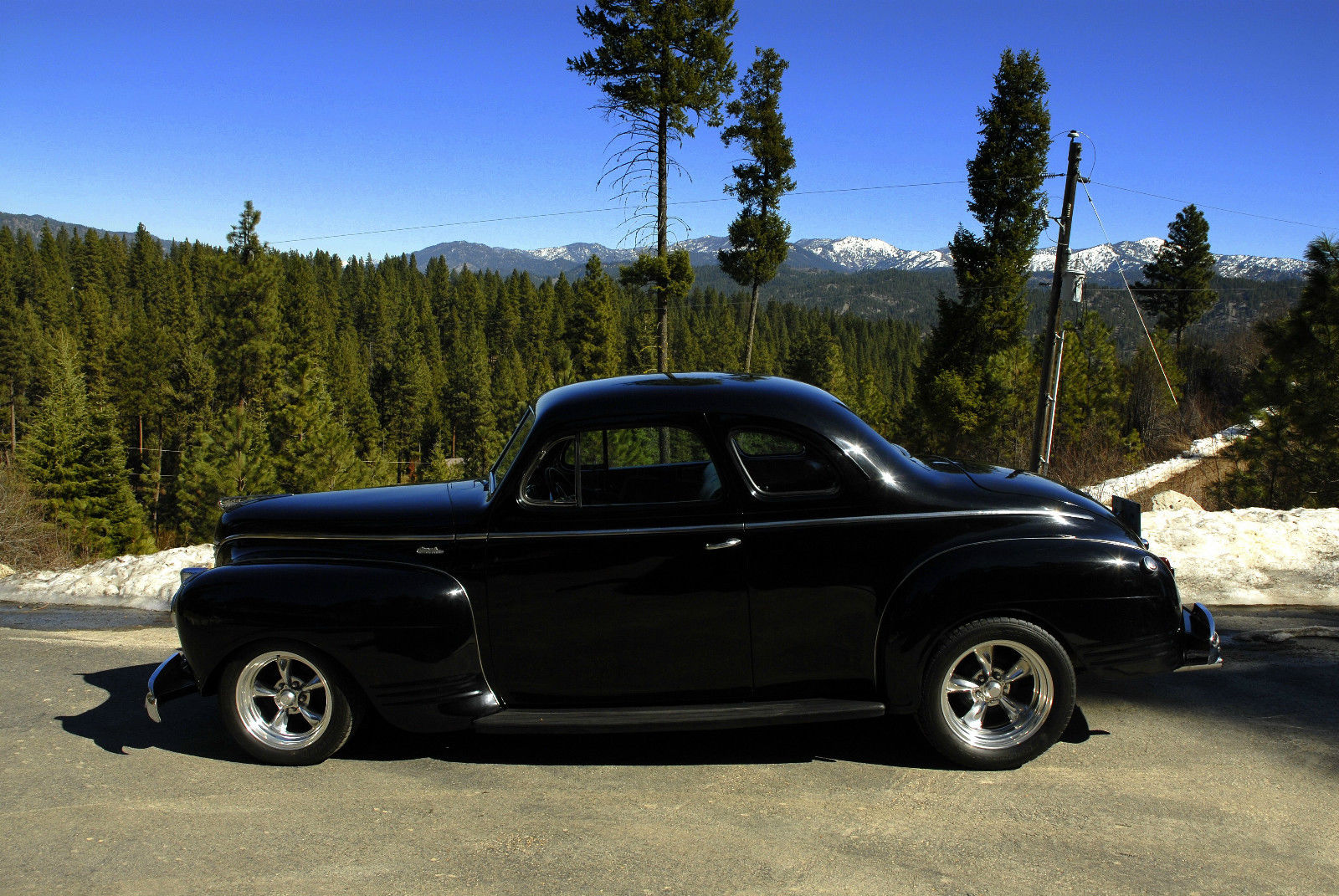 1941 Plymouth Business Coupe Black Excellent Condition For Sale In Pro Street Other Deluxe