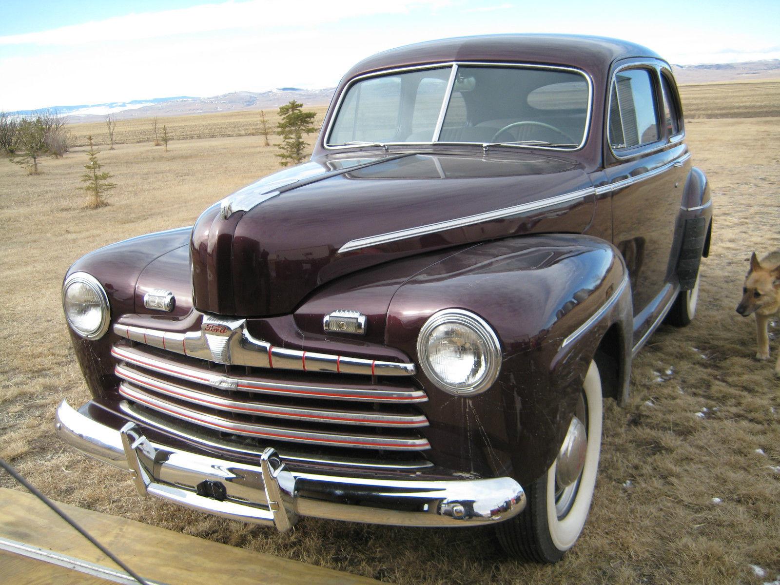 1946 ford 2 door sedan maroon burgandy for sale in for 1946 mercury 4 door sedan