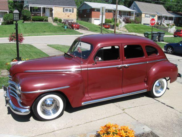 1946 plymouth 4 door sedan street rod chevy 250 6cylinder for 1946 chevy 2 door sedan