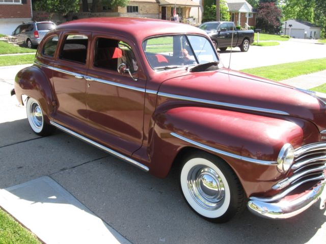1946 plymouth 4 door sedan street rod chevy 250 6cylinder