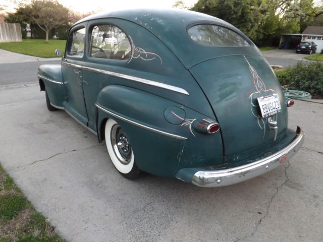 1947 ford tudor super deluxe v8 hot rat rod custom daily