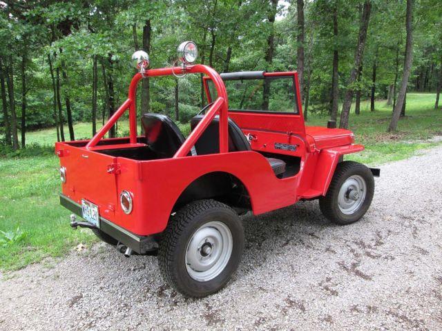 1947 Willys Cj2a Jeep Restored Red For Sale In Joplin