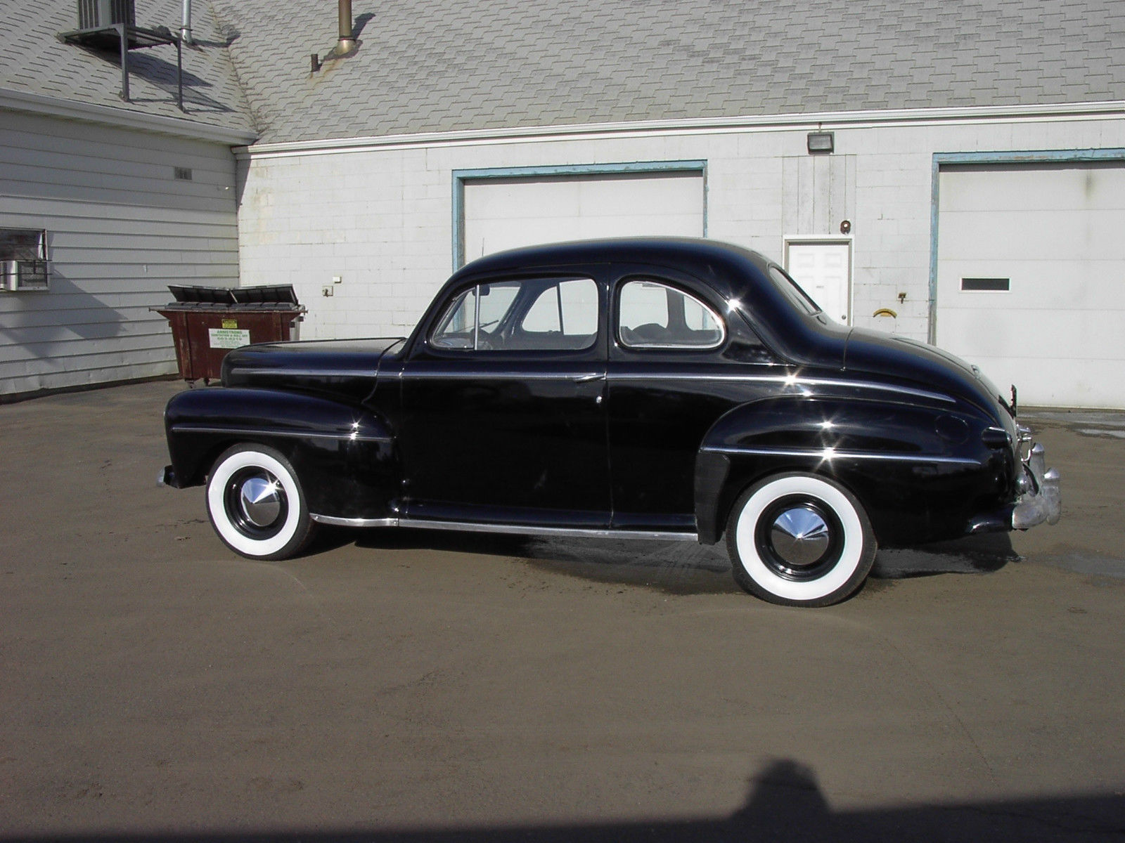 1948 48 Ford Flathead V8 3 Speed Coupe Hot Rod Black New