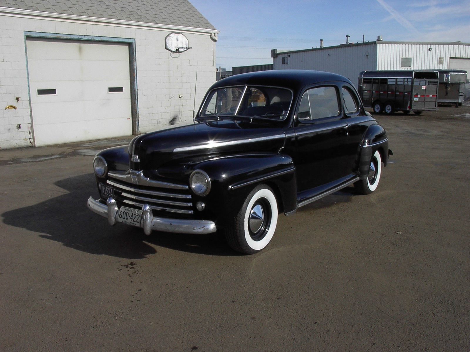 1948 48 ford flathead v8 3 speed coupe hot rod black new interior runs great for sale in mandan. Black Bedroom Furniture Sets. Home Design Ideas
