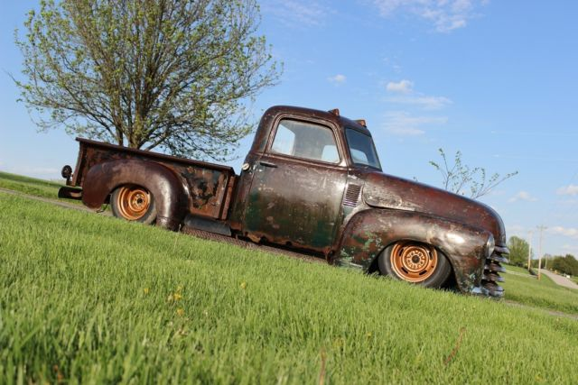 74995 1948 Chevy Bagged Hot Rat Rod Patina Slammed Pickup Truck 47 48 49 50 51 52 53