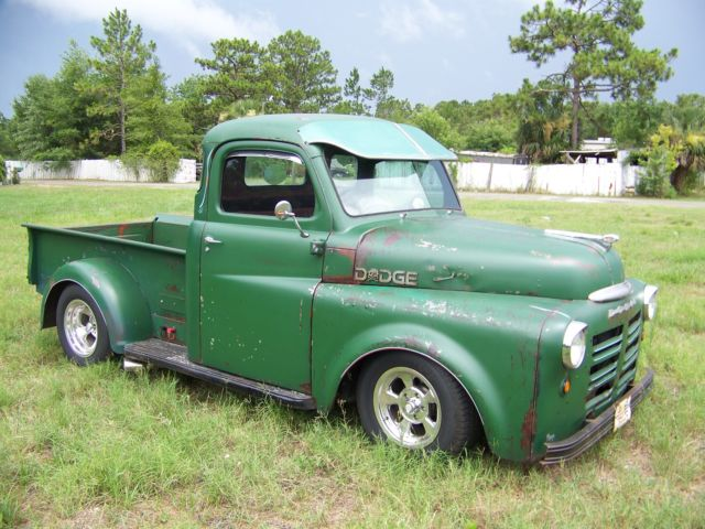 1948 dodge 5 window pick up truck sitting on a s-10 ...