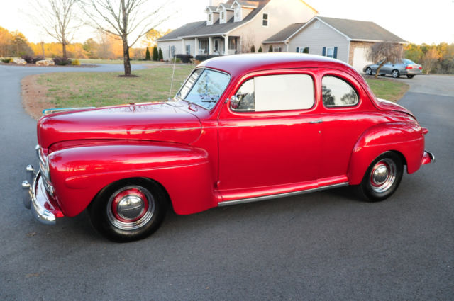 1948 Ford Coupe, Hot Street Rod Style, Flathead V8, Frame