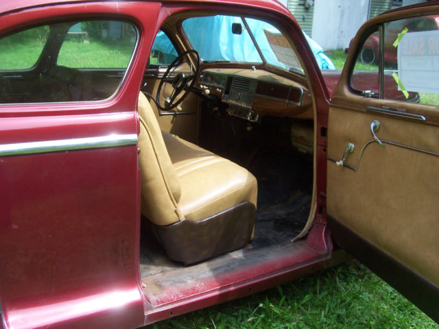 1948 Plymouth Special Deluxe Coupe Burgundy Paint With Tan Vinyl Interior  U0026quot Nice U0026quot  For Sale