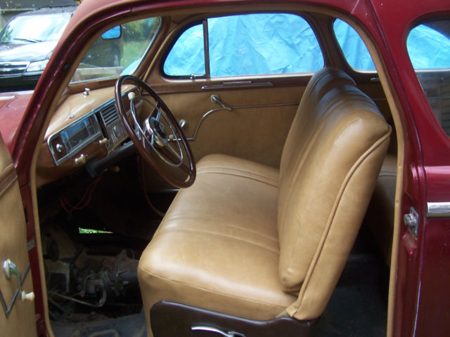 1948 plymouth special deluxe coupe burgundy paint with tan vinyl interior nice. Black Bedroom Furniture Sets. Home Design Ideas