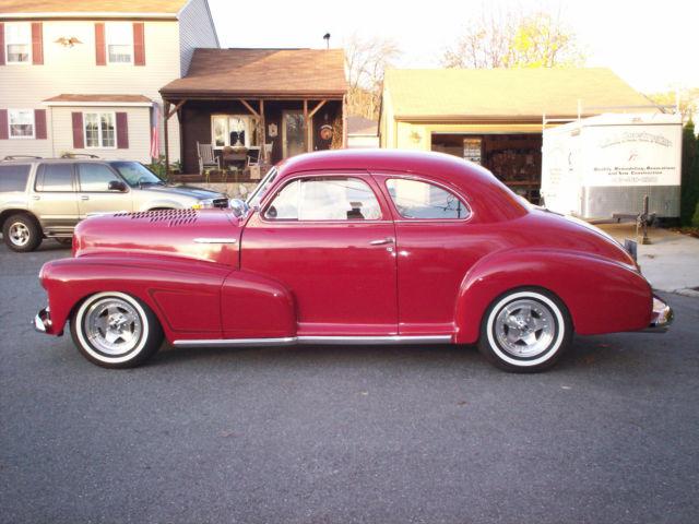 1948 red chevy 2 door coupe fleet master for sale in for 1948 chevy 2 door