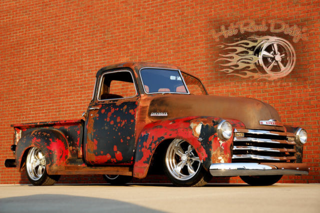 1949 hot rat street rod pro touring 3100 chevy patina shop truck no air ride c10 for sale in. Black Bedroom Furniture Sets. Home Design Ideas