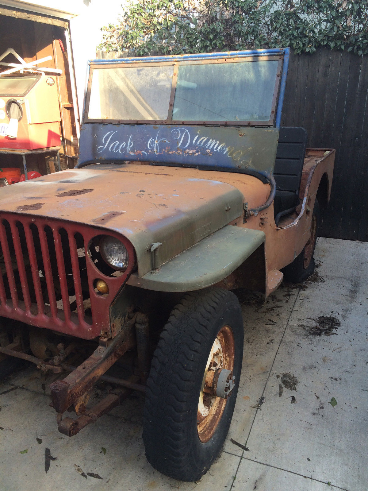 1949 Willys Cj3a 4x4 Jeep Like Mb Project Vehicle For Sale In Long Beach California United States For Sale Photos Technical Specifications Description